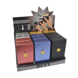 Pouzdro Clic Boxx 100 na stovkové cigarety-Pouzdro (krabi�ka) na stovkov� cigarety (20ks) nebo na celou krabi�ku cigaret stejn� velikosti. Po stisknut� dojde k otev�en� pouzdra d�ky pru�ince. Rozm�ry: 10,9x5,8x2,4cm. Proveden�: plast.br br