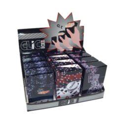 Pouzdro Clic Boxx Poker na cigarety-Pouzdro (krabi�ka) na cigarety King Size (20ks) nebo na celou krabi�ku cigaret stejn� velikosti. Po stisknut� dojde k otev�en� pouzdra d�ky pru�ince. Rozm�ry: 9,5x5,8x2,4cm. Proveden�: plast.br br