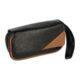 Pouzdro na 2 dýmky Etue Angelo, černé-hnědý roh, koženka-Pouzdro (Etue) na 2 dýmky se zipem a vnitřní kapsou na kuřácké potřeby. Pouzdro na dýmku je koženkové.