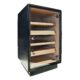 Humidor na doutníky Cabinet Black skříňový-Skříňový humidor na doutníky s kapacitou cca 120-150 doutníků. Humidor cabinet je dodáván s vlhkoměrem, zvlhčovačem a čtyřmi policemi. Vnitřek humidoru je vyložený cedrovým dřevem. Rozměr: 66x44x41 cm.  Humidory jsou dodávány nezavlhčené, proto Vám nabízíme bezplatnou volitelnou službu Zavlhčení humidoru, kterou si vyberete v Souvisejícím zboží. Nový humidor je nutné před prvním uložením doutníků zavlhčit, upravit a ustálit jeho vlhkost na požadovanou hodnotu. Dobře zavlhčený humidor uchová Vaše doutníky ve skvělé kondici.  a target=_blank href=..\www\prilohy\Návod_k_použití_humidoru.pdfNávod k použití humidoru - PDF/a
