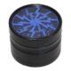 Drtič tabáku Alu - Blue, kovový-Kovový drtič tabáku. Čtyřdílný se závitem a sítkem. Rozměry drtiče tabáku: průměr 62mm, výška 42mm.