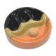 Dýmkový popelník keramický na 3 dýmky, černohnědý-Dýmkový popelník s odkladem na tři dýmky, keramický. Kulatý popelník na dýmku má průměr 18cm, výšku 5,8cm. Provedení: matné.