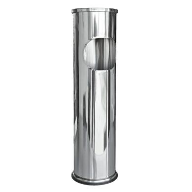 Venkovní popelník - odpadkový koš kulatý, nerez, 54,5cm