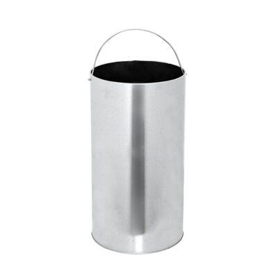 Venkovní popelník - odpadkový koš kulatý, nerez, 61cm