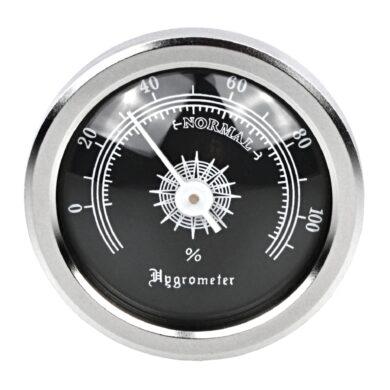 Vlhkoměr kulatý chrom-černý, 45mm(09106)