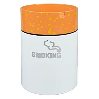 Cigaretový popelník kovový Smoking