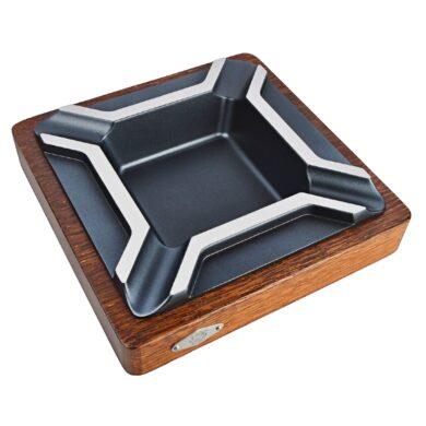 Doutníkový popelník Wenge, wood-metal, 4D