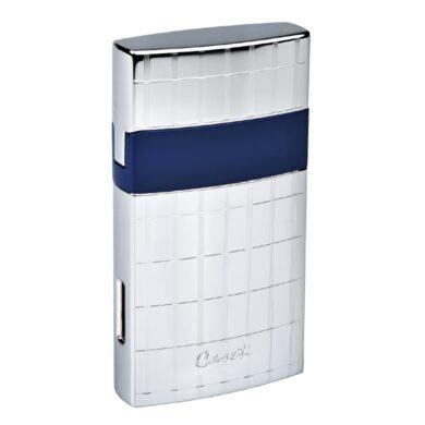 Tryskový zapalovač Caseti Nice chrome-blue