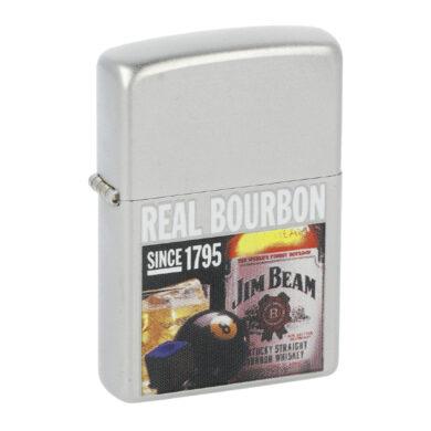 Zapalovač Zippo Jim Beam Real Bourbon, satin