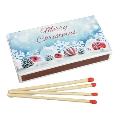 Zápalky Christmas dlouhé 9,5cm, 50ks(59106)