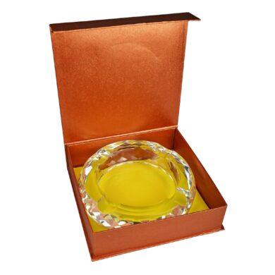 Doutníkový popelník křišťál Honeycomb 18cm, 4D, čirý