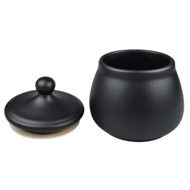 Dóza na tabák keramická černá