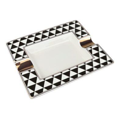 Doutníkový popelník keramický Triangles