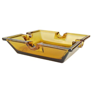 Doutníkový popelník skleněný Amber, 4D
