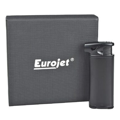 Dýmkový zapalovač Eurojet Burg, černý
