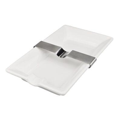 Doutníkový popelník keramický 1D, bílý