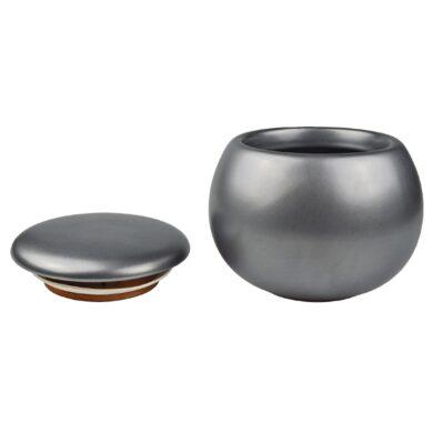 Dóza na tabák keramická stříbrná