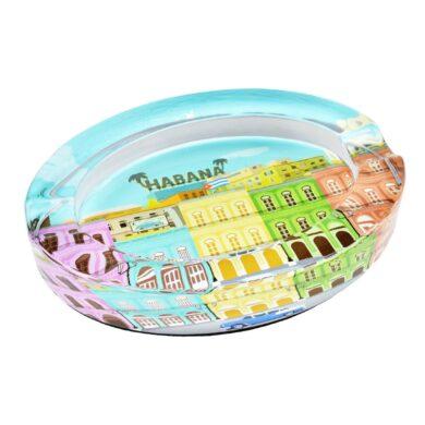 Doutníkový popelník skleněný Habana 2D