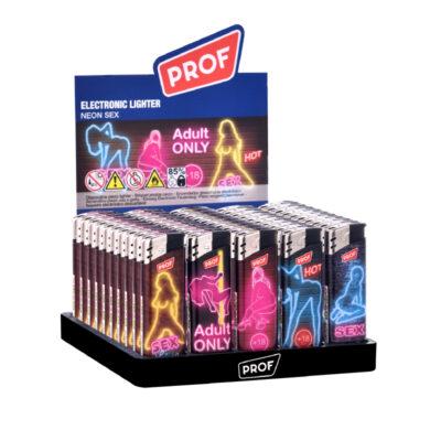 Zapalovač PROF Piezo Sexy Neon(804598)