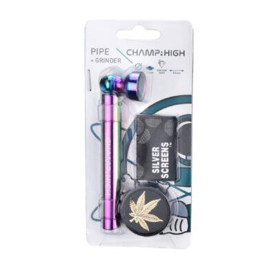 Drtič na tabák Champ High se šlukovkou a sítky(506163)