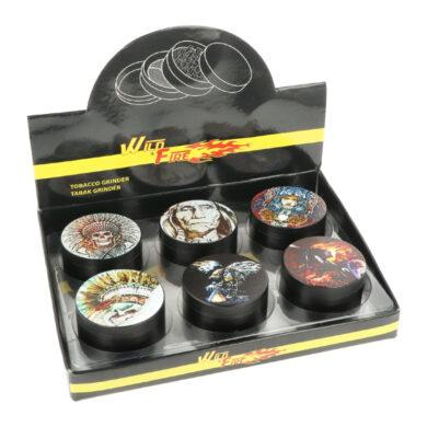Drtič tabáku kovový WildFire Indians 50mm(31211)