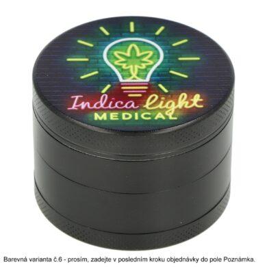 Drtič tabáku kovový WildFire Neon, 50mm