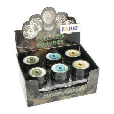 Drtič tabáku kovový Eyes, 40mm