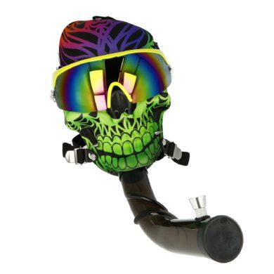 Akrylový bong Maska Super Heroes zelený