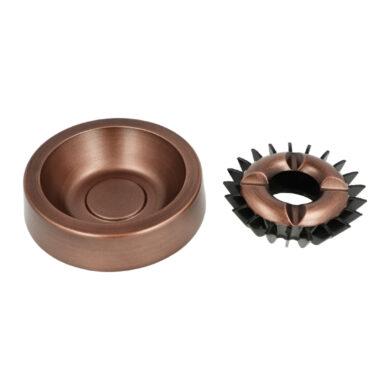 Cigaretový popelník kovový kulatý Copper, 13cm