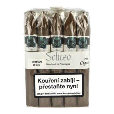 Doutníky Asylum Schizo Torpedo 6x52, 20ks