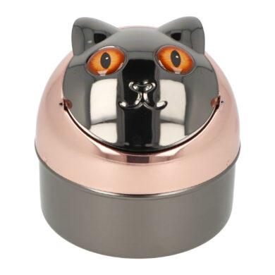Cigaretový popelník kovový Cat brown eyes 9cm(400012)