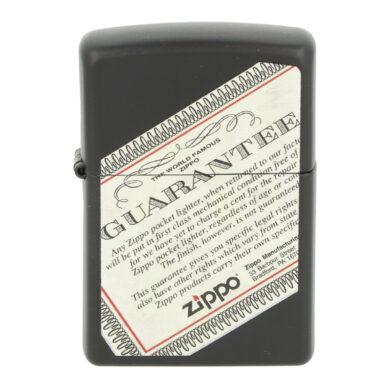 Zapalovač Zippo Guarantee, matný
