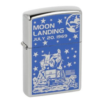 Zapalovač Zippo Moon Landing, leštěný