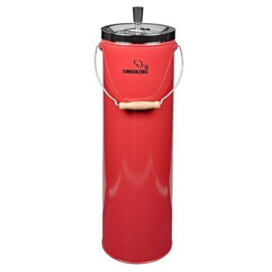 Venkovní popelník - odpadkový koš, červený(11292)