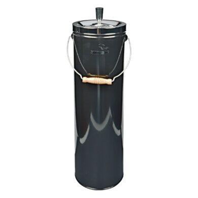 Venkovní popelník - odpadkový koš, černý(11291)