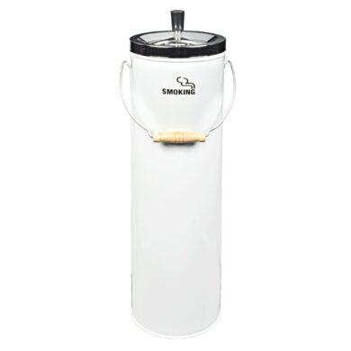 Venkovní popelník - odpadkový koš, bílý(11290)