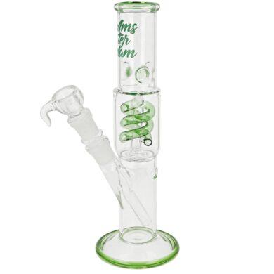 Skleněný bong s perkolací Amsterdam Green, 29cm(02938MIXG)