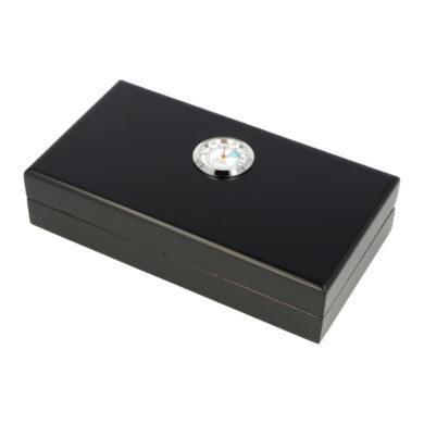 Humidor na doutníky Angelo černý matný, 20x11x4,5cm