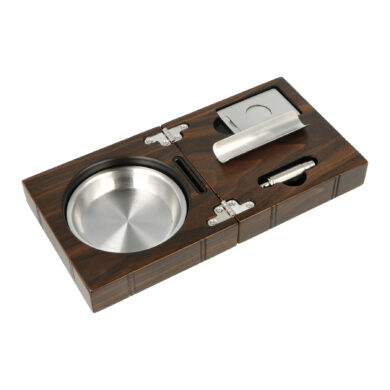 Doutníkový popelník Wood Set, 1D
