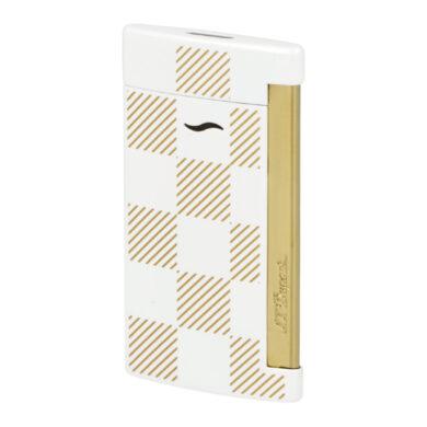 Zapalovač S.T. Dupont Slim 7 Checkered white