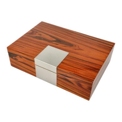 Humidor na doutníky hnědý lesklý 25D, 30x21x9cm(09418)