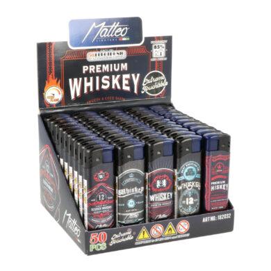 Zapalovač Matteo Piezo Touch Whiskey(202028)
