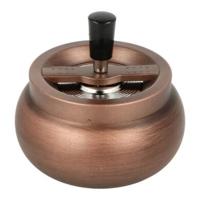 Cigaretový popelník kovový otočný Copper Tabi, 13cm(06038)