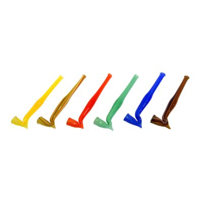 Šlukovka skleněná, zalomená, barevná(10161)