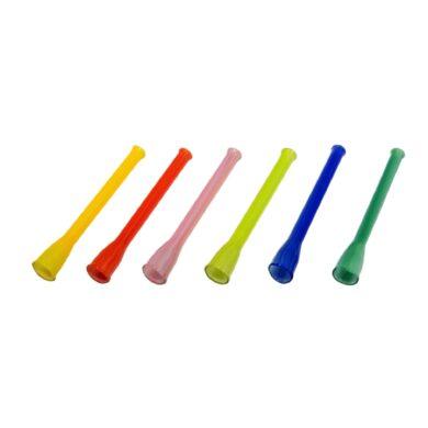 Šlukovka skleněná, barevná, malá(010609)