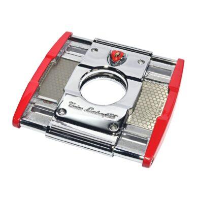 Doutníkový ořezávač Lamborghini Precisione, chrom-červený