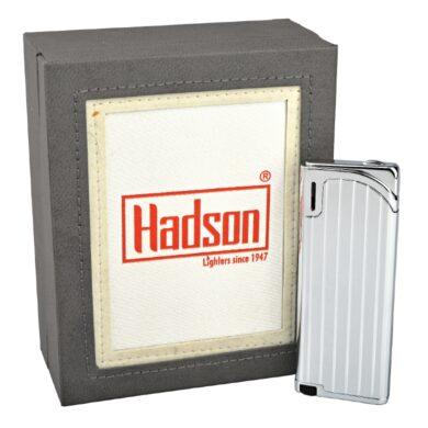 Zapalovač Hadson Slim, stříbrný, rýhy