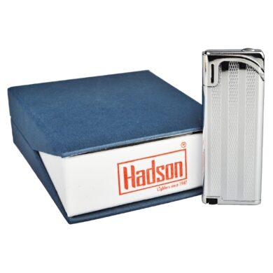 Zapalovač Hadson Slim, stříbrný, proužky
