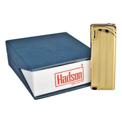 Zapalovač Hadson Slim, zlatý, proužky