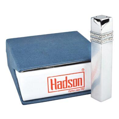 Dámský zapalovač Hadson Square, chrom, bílé kamínky Swarovski